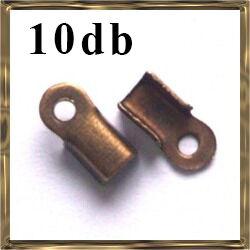 10 db Antikolt bronz színű bőrvég 9x4 mm NIKKELMENTES