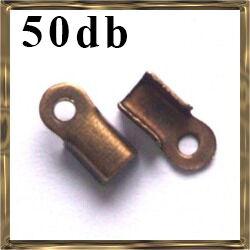 50 db Antikolt bronz színű bőrvég 9x4 mm NIKKELMENTES