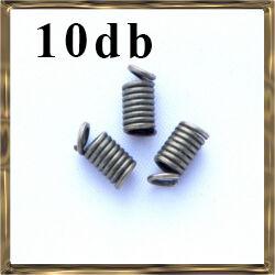 10 db Antikolt bronz színű csigás bőrvég NIKKELMENTES