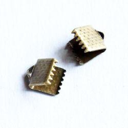 10 db Antikolt bronz színű szalagvég 6 mm