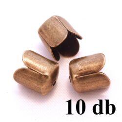 10 db Antikolt bronz színű tulipános záró elem NIKKELMENTES
