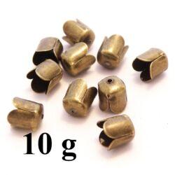10 g  Antikolt bronz színű tulipános záró elem NIKKELMENTES