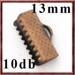 10 db Antikolt réz szalagvég záró elem 13 mm NIKKELMENTES