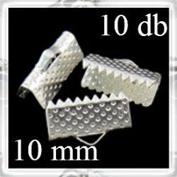 10 db Ezüstözött szalagvég záró elem 10 mm
