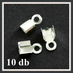 10 db Ezüstözött bőrvég 9x4 mm