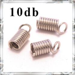 10 db Ródiumos csigás bőrvég