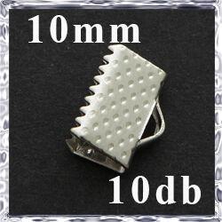 10 db Ródiumos szalagvég 10 mm NIKKELMENTES