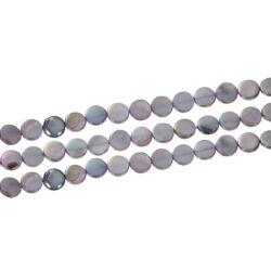 10 db 10 mm szivárványos szürke kagylóhéj gyöngy