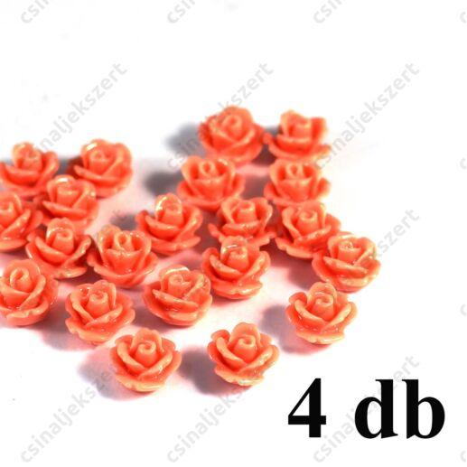 10 mm Fáradt rózsaszín Műanyag rózsa virág kaboson