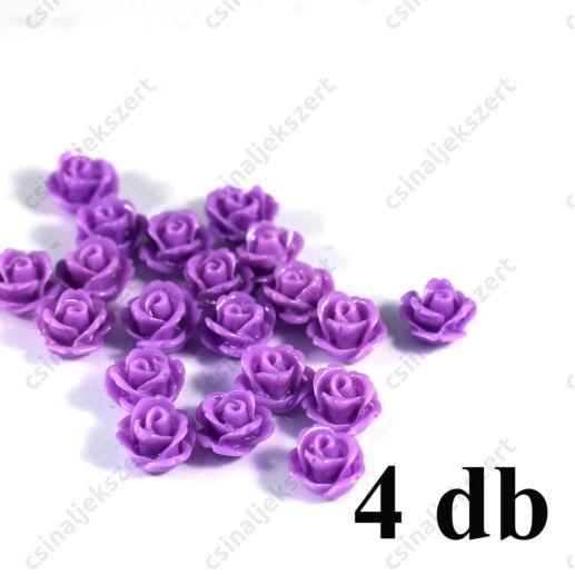 10 mm Műanyag rózsa virág kaboson