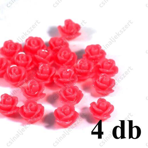 Sötét rózsaszín Műanyag rózsa virág kaboson