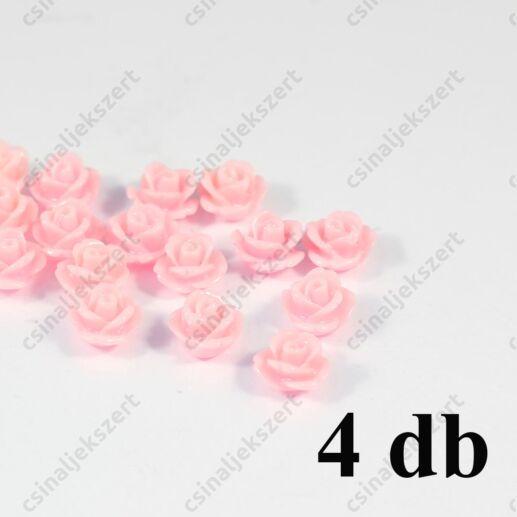 10 mm Világos rózsasín Műanyag rózsa virág kaboson