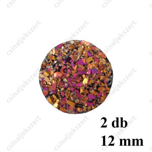 11 mm Barna műgyanta drúza achát kaboson