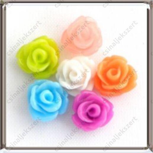 Műanyag rózsa cabochon kaboson dísz 6 mm
