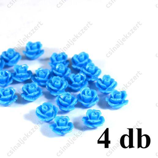 Világoskék Műanyag rózsa virág kaboson