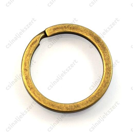 Antikolt bronz színű kulcstartó, kulcskarika 28 mm
