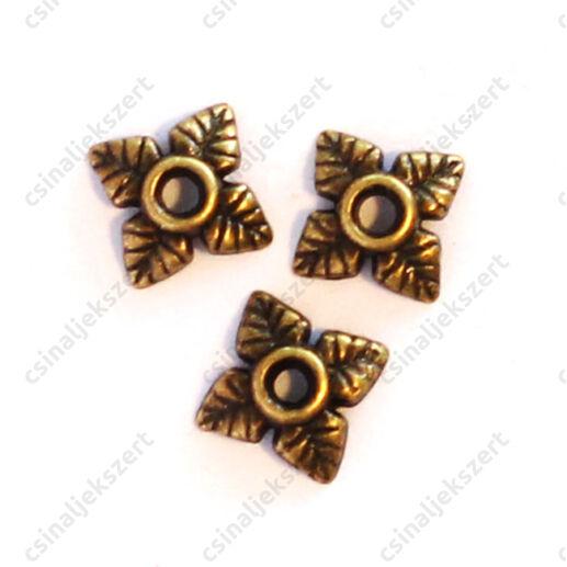 Antikolt bronz színű csillagvirág gyöngykupak