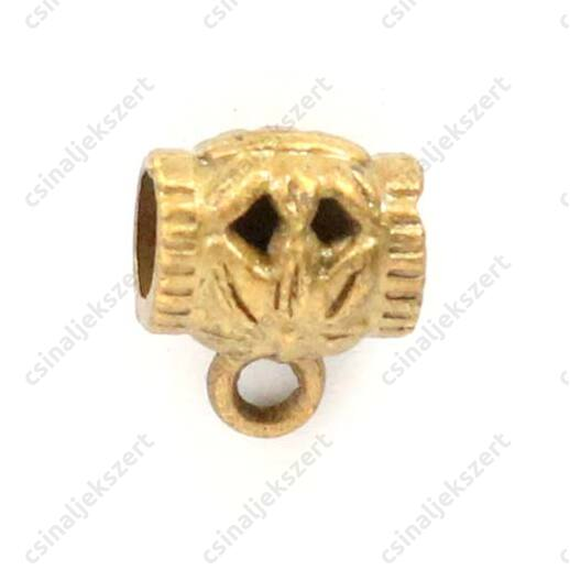 Antikolt bronz színű, tibeti stílusú medáltartó 10x8x7 mm