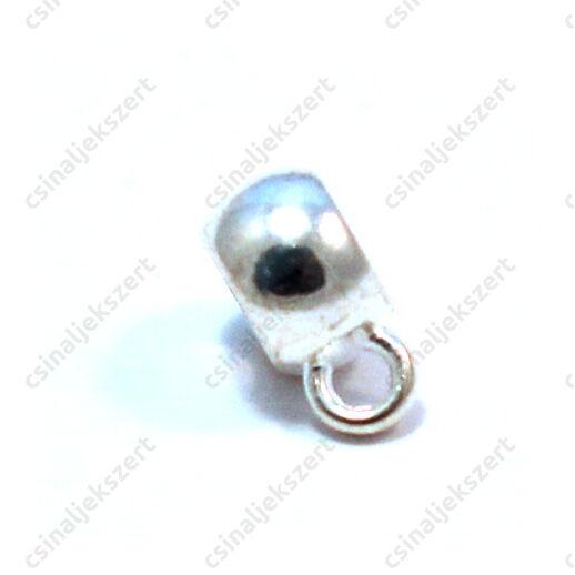 Antikolt ezüst színű rondell medáltartó 8x5 mm