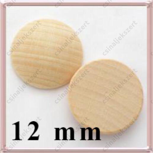 Fa lencse, alap gyöngyfűzéshez 12 mm