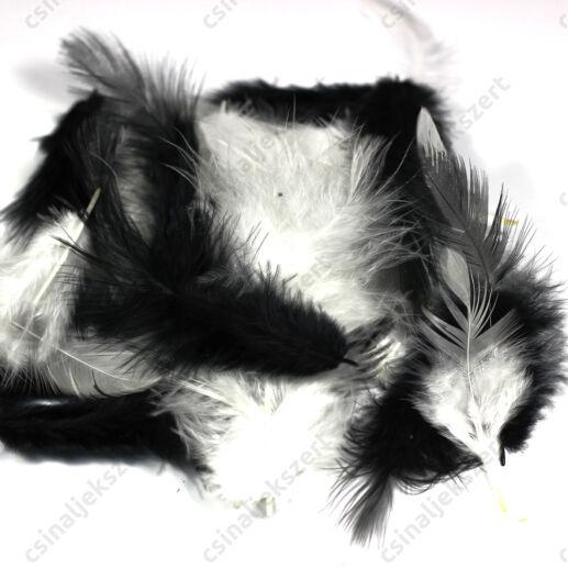 Fekete-fehér vegyes madártoll