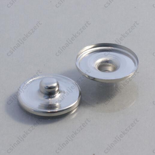 Ródiumos réz noosa tányéros patent 18 mm