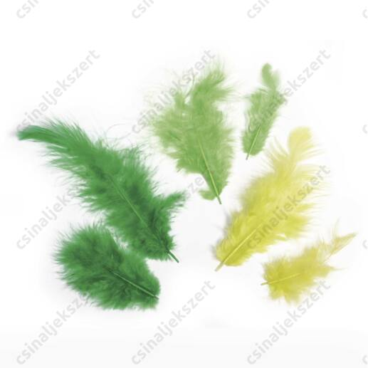 Zöld vegyes madártoll