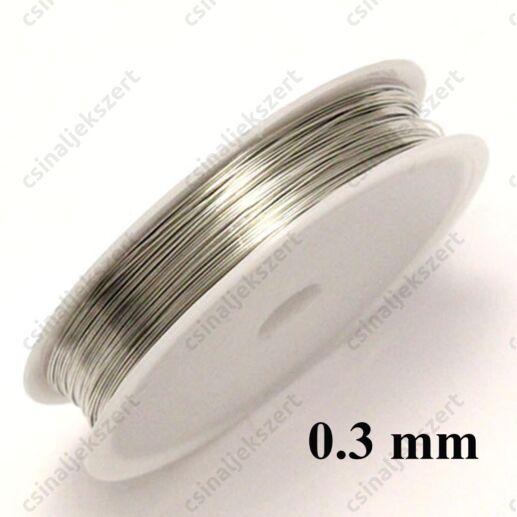 Ezüst színű rézdrót félkemény 0.3 mm