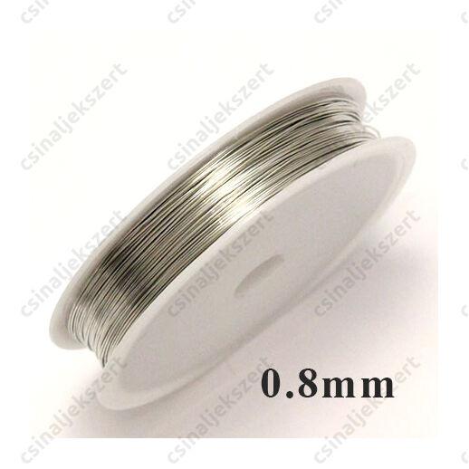 Ezüst színű rézdrót félkemény 0.8 mm kb. 3 m