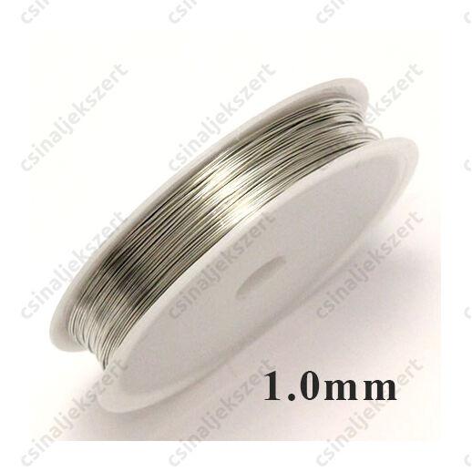 Ezüst színű rézdrót félkemény 1 mm kb. 2.5 m
