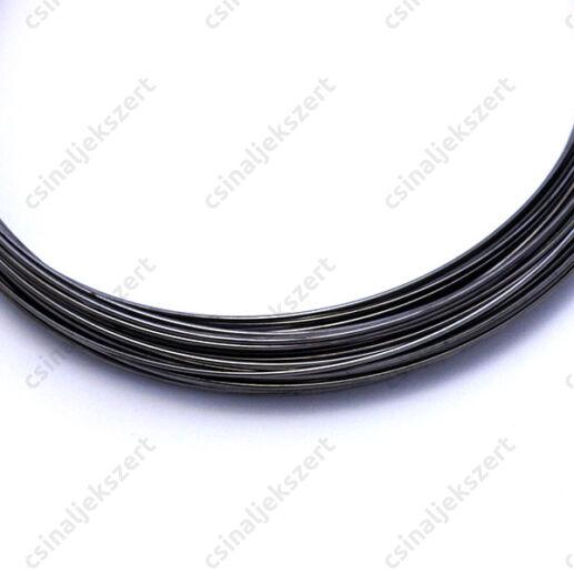 Fekete nikkel színű memóriadrót nyaklánc 2 soros