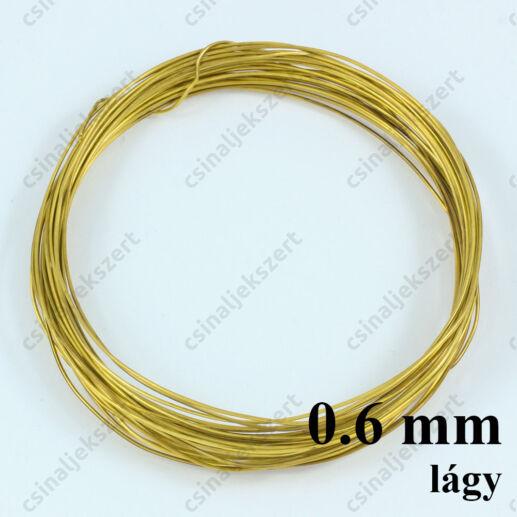 Sárgaréz drót LÁGY 0.6 mm
