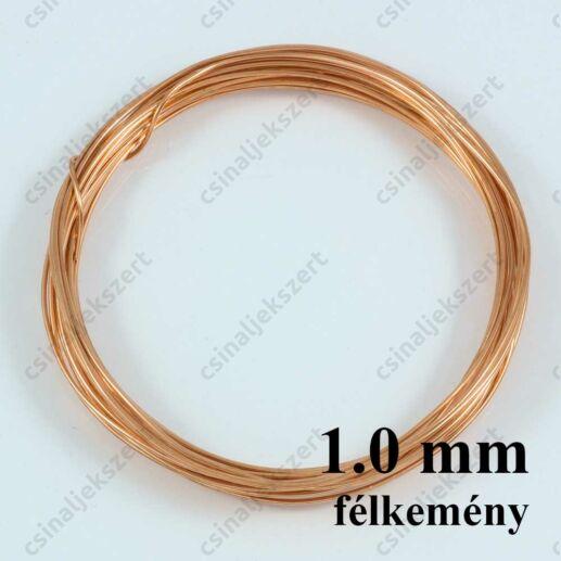 Vörösréz drót félkemény 1.0 mm kb. 3m