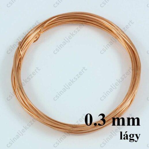 Vörösréz drót LÁGY 0.3 kb. 10 m