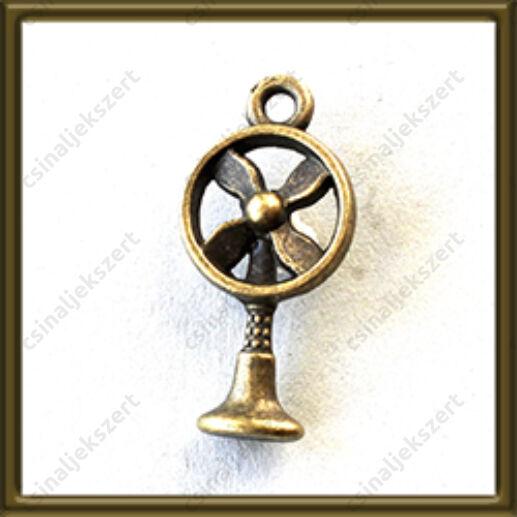 Antikolt bronz színű ventilátor medál