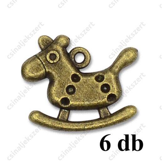 Antikolt bronz kulcs függő dísz