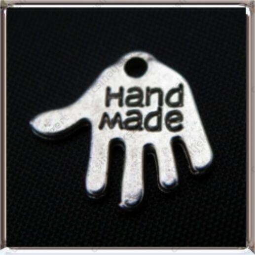 Antikolt ezüst színű Tibeti stílusú Hand Made kéz medál függő