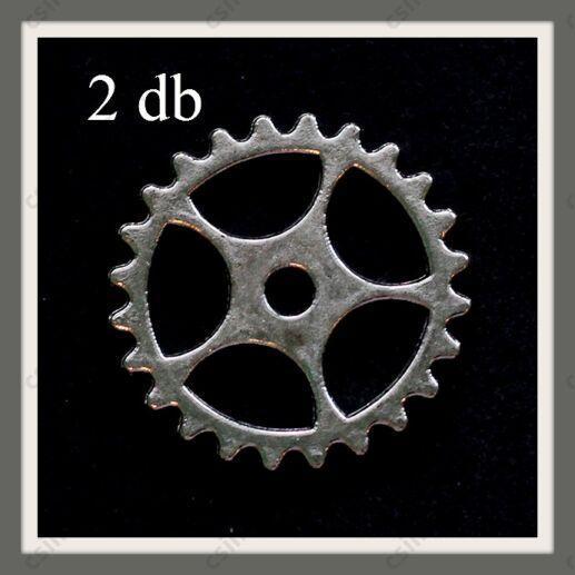 Antikolt ezüst színű fogaskerék medál függő dísz