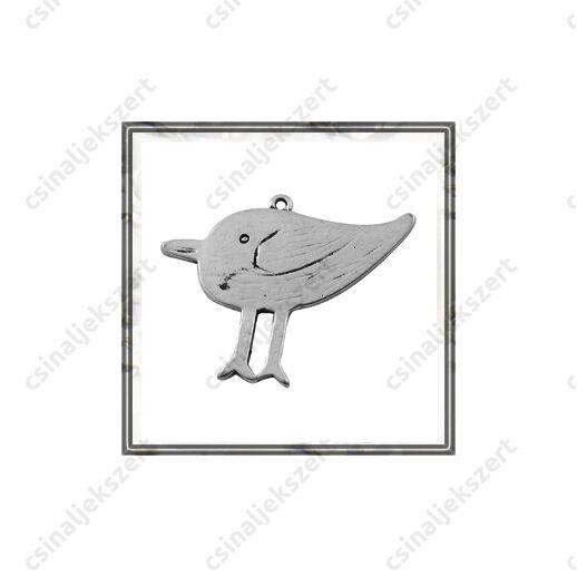 Antikolt ezüst színű hatalmas madár függő