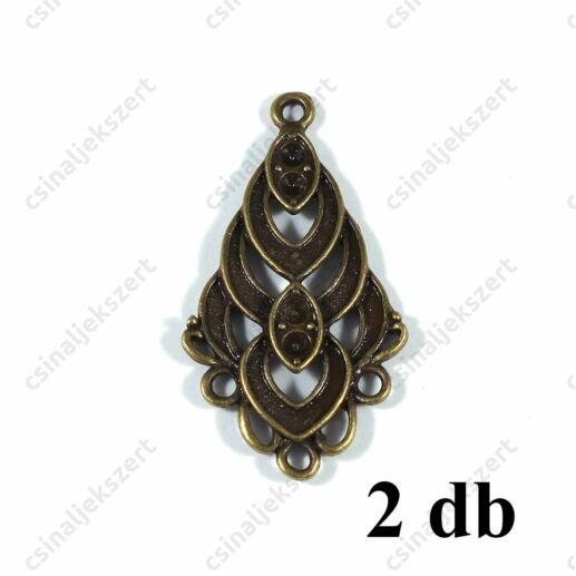 2 db Antikolt bronz színű 3 soros, hurkos kapcsoló elem