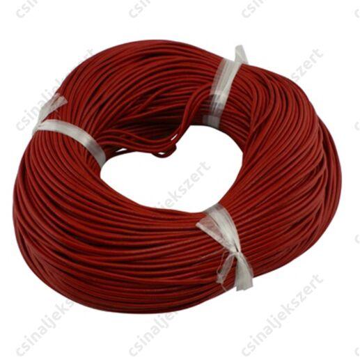 1 méter 1.5 mm Piros hengeres bőrszál