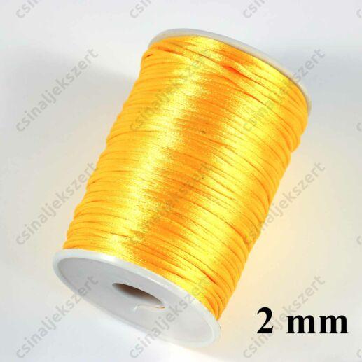 Aranysárga 2 mm vastag (patkány farok) fonott selyemszál