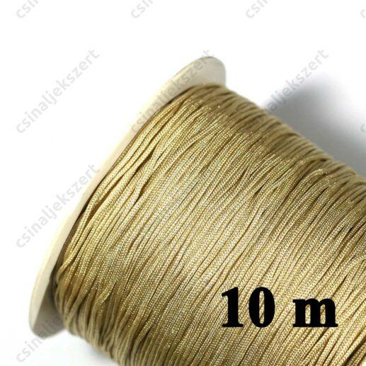 Bézs 0.8 mm vastag fonott selyemszál