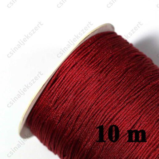 10 m Bordó 0.8 mm vastag fonott selyemszál