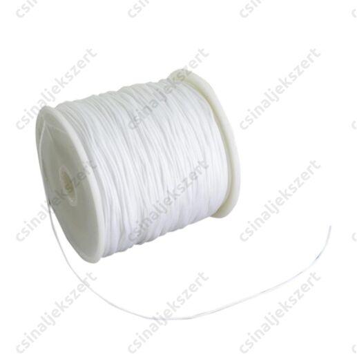 Fehér 0.8 mm vastag fonott selyemszál