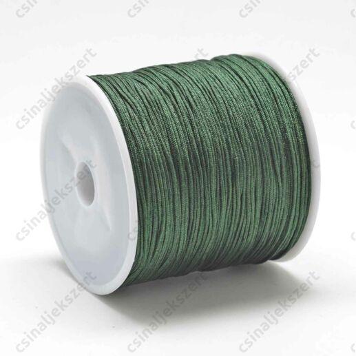 Fenyőzöld 0.8 mm vastag fonott selyemszál