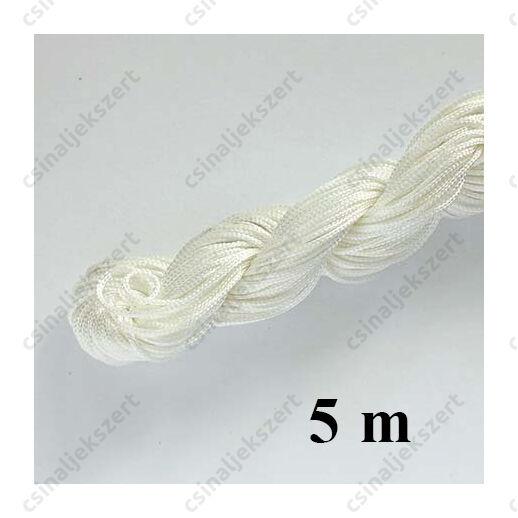 Fonott selyemszál 1 mm vastag 5 m Fehér