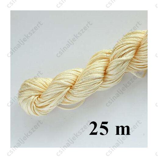 25 m Halvány aranysárga fonott selyemszál