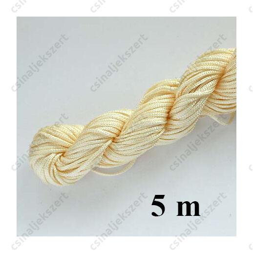 Fonott selyemszál 1 mm vastag 5 m Halvány Aranyságra