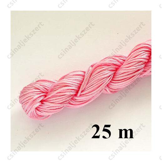 25 m Halvány pink fonott selyemszál